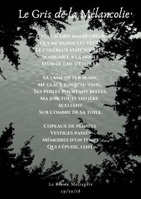 Le Gris de la Mélancolie