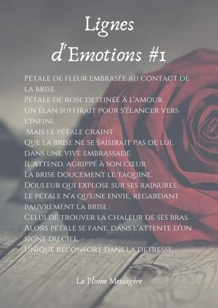 Pétale de fleur embrasée au contact de la brisePétale de rose destinée à l'amour.Un élan suffirait pour s'élancer vers l'infini. Mais le pétale craintQue la brise ne se saisirait pas de lui, dans une vive emb